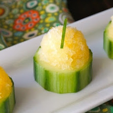 Tasty and Refreshing Orange Granita Cucumber Cups