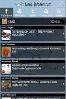Screenshot of UMIZ-Infozentrum