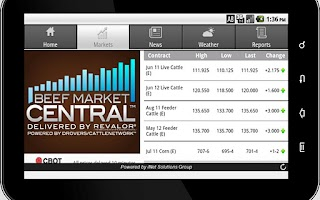 Screenshot of Beef Market Central for Tablet