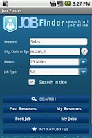 Screenshot of JobFinder