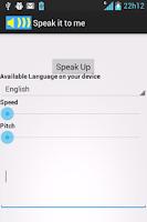 Screenshot of Speak it to me - TTS