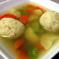 Hearty Vegetarian Motzah Ball Soup