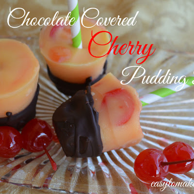 Chocolate Covered Cherry Pudding Pops
