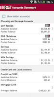 Screenshot of BB&T Mobile Banking