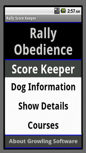 Rally Obedience Score Keeper