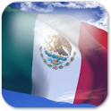 3D Mexico Flag icon