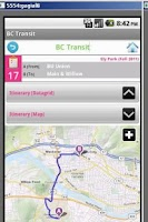 Screenshot of greenBus