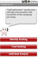 Screenshot of CallLogCounter