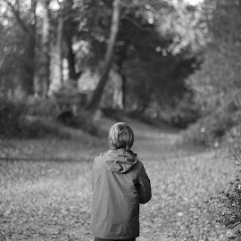 A walk in the park by Natasha Giles - People Street & Candids ( walking, park, black and white, family, walk, people,  )
