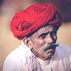 Wrinkles tells a Story by Adityendra Solanki - People Portraits of Men ( pushkar fair, tourism india, pushkar, rajasthan, turban, india, nikkor 80-200mm f/2.8, nikon d7000, tourism rajasthan )