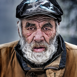 Beggar by Andrei Grososiu - People Portraits of Men ( life, beggar, beard, man, portrait )