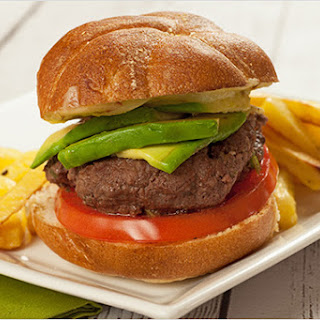 Buffalo Burgers with Jalapeño, Lime and Avocado