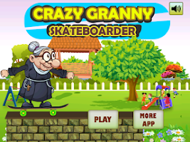 Screenshot of Crazy Angry Granny Skate Run