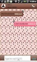 Screenshot of GO SMS - Polkadot Butterfly 5