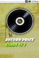 Screenshot of Vinyl Record Price Guide 45's