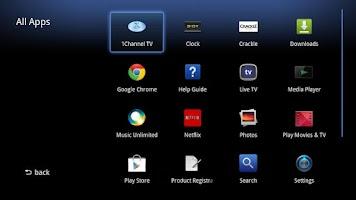 Screenshot of 1Channel for Google TV