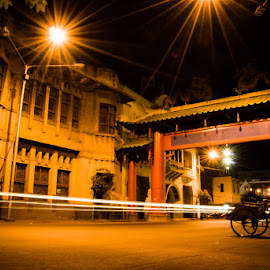 Night View at Kembang Jepun by Koko Sudiro - City,  Street & Park  Historic Districts ( city tour, indonesia, kembang jepun, landscape, night shot, surabaya )
