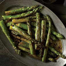 Roasted Asparagus with Balsamic Browned Butter