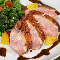 Duck Breasts with Ancho Chile Dulce De Leche Glaze
