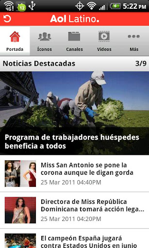aol-latino for android screenshot