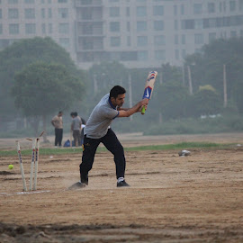 Clean Bowled by Sanam Ahmed Khan - Sports & Fitness Cricket ( gurgaon, bowled, cricket, sports, wickets )