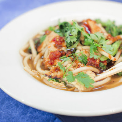 Udon Noodle Soup with Tempeh