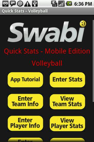 Quick Stats for Volleyball