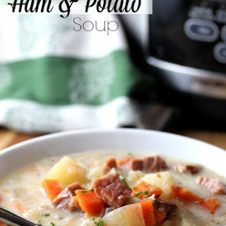 Easy Ham & Potato Crockpot Soup