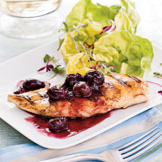 Grilled Chicken With Spicy Cherry Sauce
