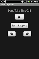 Screenshot of VOICE Ringtones