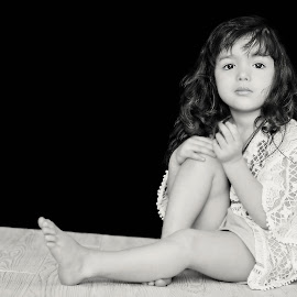 Penny for her thoughts ... by Chantelle Heiskell - Babies & Children Children Candids ( girls, black and white, family, children, eyes,  )