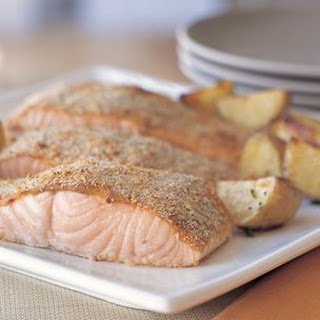 Mustard-Crusted Salmon and Potatoes