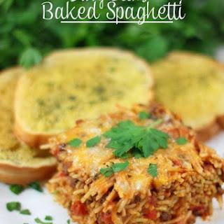 Baked Spaghetti With Angel Hair Pasta Recipes