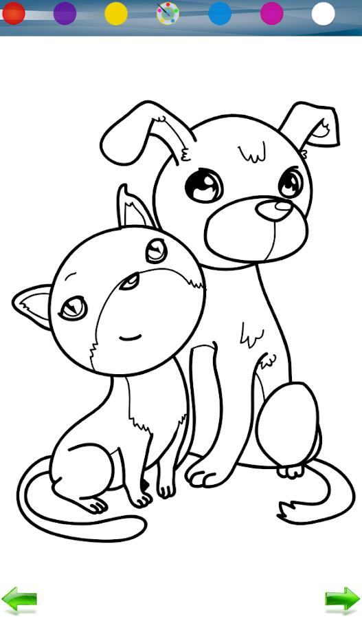 Собачка игра раскраска