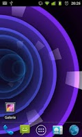 Screenshot of Circle Rose Live Wallpaper