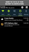 Screenshot of UPS Mobile