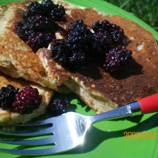 Banana-Flax Pancakes With Blueberry Sauce