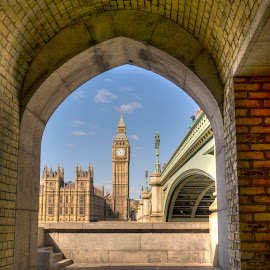 Big Ben & Westminster Bridge by Akar Necati - Buildings & Architecture Public & Historical ( thames, london, westminster bridge, westminster, big ben )