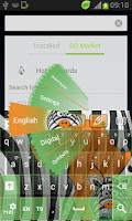 Screenshot of Zebra Keyboard