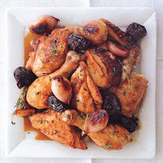 Chicken with Shallots, Prunes, and Armagnac