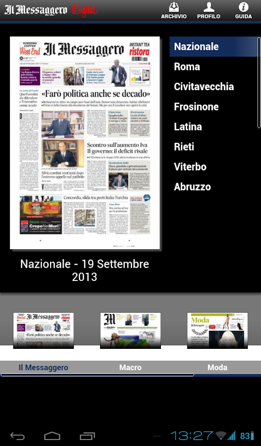 Il Messaggero Digital Screenshot 4