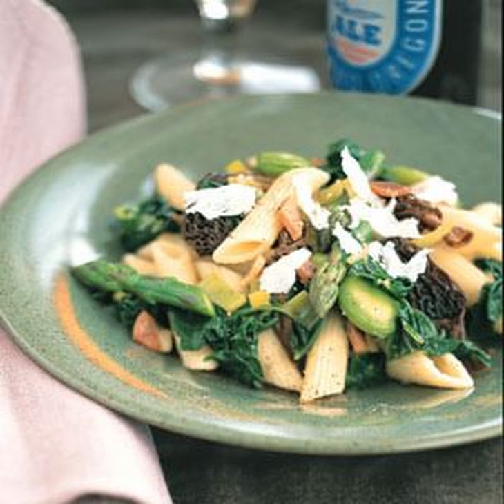 Penne with Morels and Spring Vegetables Recipe | Yummly