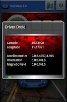 Screenshot of Sensor Viewer Driver Droid