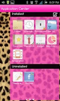 Screenshot of Go SMS Themes: Pink Cheetah