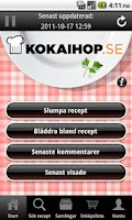 Screenshot of Kokaihop.se recept