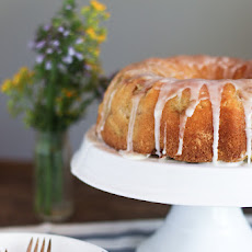 Lemon Buttermilk Rhubarb Bundt Cake