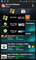 Screenshot of Games Release