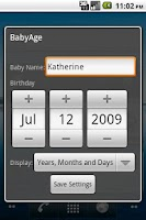 Screenshot of BabyAge
