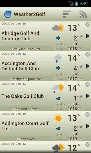 Weather2Golf ads free