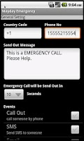 Screenshot of Mayday Emergency Lite